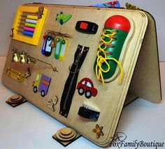 Busy board for toddler Activity board Wooden busy toys