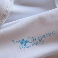 We were delighted to be approached by The Organic Pharmacy to produce their in store t-shirts. Apart from being my personal beauty haven their approach absolutely endorsed their credibility. How reassuring to know that down to their uniforms they uphold their ethical foundations.