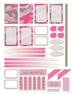 traceyplans | HP Pink Camo Weekly layout FREE DOWNLOAD