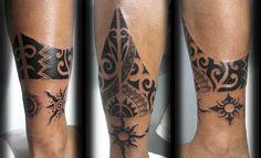 Polynesian Ankle Tattoo