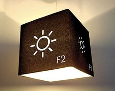 F1 & F2 Lampshade from weburbanist.com #geeky