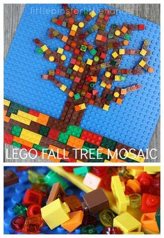 LEGO Fall Tree Mosaic STEAM Activity for Kids Create a Fall tree mosaic with LEGO bricks! Creative Fall STEAM activity that uses engineering, art, and fine motor skills to build a LEGO Fall tree mosaic. Fall Art Projects, Lego Projects, Stem Projects, Autumn Activities For Kids, Fall Crafts For Kids, Legos, Lego Tree, Cool Lego, Awesome Lego