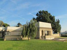 Hollyhock House in Barnsdall Art Park, Los Angeles, Designed by Frank Lloyd Wright (1919-1921).