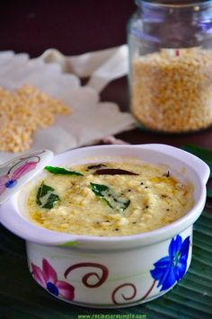Nadan Parippu Curry Moong Dal Curry for Kerala Sadhya