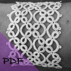 PDF file shuttle tatting pattern for Four Corners bracelet