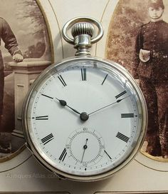 Antiques Atlas - Antique 1879 Silver Waltham Sterling Pocket Watch.