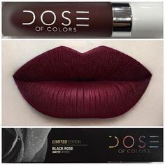 doseofcolors ️ •BLACK ROSE• ️ Limited Edition liquid matte lipstick launching at IMATS LA, Booth #328 ( End of March it will be available on our website )