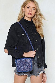 WANT Don't Be a Quitter Glitter Crossbody Bag