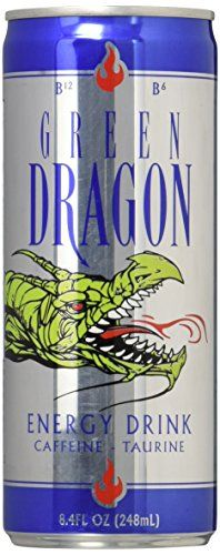 Green Dragon Energy Drinks Caffeine Drink, Regular, 8.4 Fluid Ounce (Pack of 24) -- You can find out more details at the link of the image.