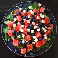 Sommersalat med vandmelon