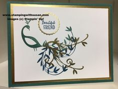 Stampin' Up Beautiful Peacock Tranquil Tide Gold Foil