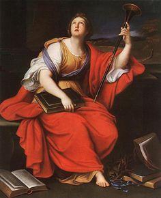 Clio (1689). Pierre Mignard (Baroque, 1612-1695).Oil on canvas.Museum of Fine Arts,Budapest, Hungary.