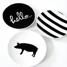 Hello Piggy Tapas Or Dessert Plates Set Of Four