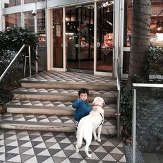 those big and little guys at Le Pain Quotidien