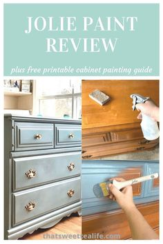 I love trying out different paints FOR YOU and Jolie Paint is up! Painted Furniture For Sale, Chalk Paint Furniture, Diy Furniture Projects, Colorful Furniture, Unique Furniture, Shabby Chic Furniture, Furniture Makeover, Refinished Furniture, Wood Furniture