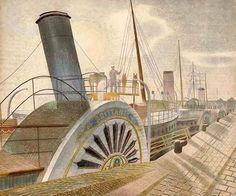 Bristol Quay, 1938 - by Eric Ravilious