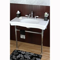 Love this for a bathroom, Imperial Vintage Wall-mount Chrome Pedestal Bathroom Sink, Overstock.com