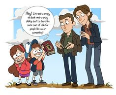 Gravity Falls and Supernatural....Oh.my.god. my two most favorite shows ever....Ever.