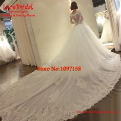 Find More Wedding Dresses Information about Dubai Luxury Ball Gown Cathedral Train Beaded Sequined Long Sleeve Lace Wedding Dresses 2015 Sweetheart Royal Bridal Gowns XW170,High Quality dress jeans for women,China dress business Suppliers, Cheap dress patterns plus size from LaceBridal on Aliexpress.com