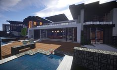 Trascend Modern House minecraftr inspiration mansion huge home download 2