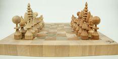 handgefertigtes Schachbrett aus 4 verschiedenen Holzarten Shopping, Types Of Wood, Projects