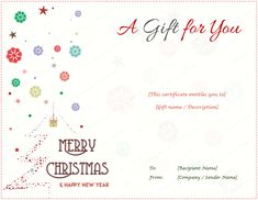 Christmas Certificates Templates For Word Adorable Flower Gift Certificate Template #giftcertificate .