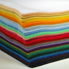 Premium Felt is a unique blend of 30% Wool and 70% Rayon/Viscose. Premium Felt is commonly used when a higher quality felt is required. This may be because one requires a greater density of fibres, which provides both a smooth texture and rich colour. This versatile material is available in a wide array of vibrant colours. Some of the uses for the Premium Felt include clothing, toys, arts and crafts. Each package contains 50  sheets that are 9 inches x 12 inches and is approximately 1.6 mm…