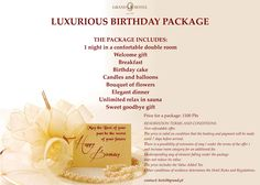 Best choice for #luxury #prestige #elegance #clasic Birthday! Only in #grandhotel