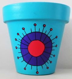macetas pintadas - Buscar con Google Painted Plant Pots, Painted Flower Pots, Diy Garden Decor, Garden Art, Clay Pot Crafts, Diy Crafts, Craft Projects For Kids, Projects To Try, Flower Pot Art