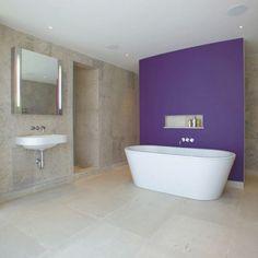Bathroom, Purple And Gray Bathroom Decor Dark Brown Finish Maple Wood Vanity Cabinets Cool Ceiling Recessed Lighting Fixtures Laminated Indoor Swimming Pool Classy Decorating Lamp: Inspiring Ideas