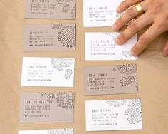 22 best handmade business cards images on pinterest carte de hand printed business cards by lena corwin colourmoves