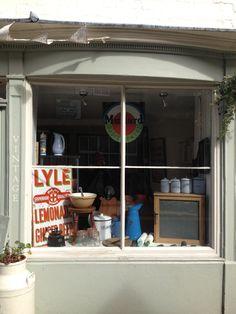 Nook , Llangollen vintage shop front.