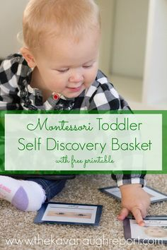 Biology for Montessori Toddlers -- Self Discovery Basket with Printable. This is an easy way to teach young children names for their eyes, nose, ears and other body parts. Add a hand mirror and children are memorized.