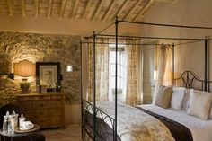 Tuscany inspired. Love the mix of textures in this room!