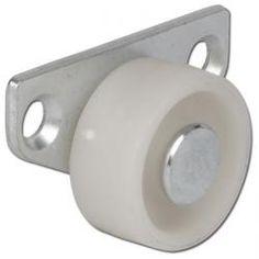 Hjul för lådor - plast - 35 kg - glidlager - sidoplatta