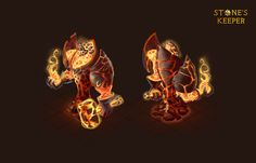 Fire elemental,character design for Stone's keeper