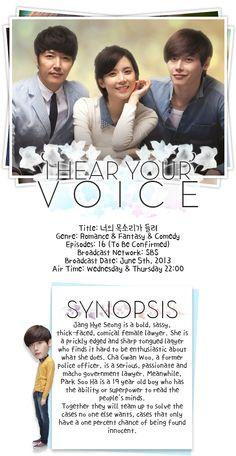 I Hear Your Voice - Korea - TV Shows - Viki