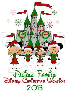 Christmas Disney Family Printable Iron On Transfer or Use as Clip ...