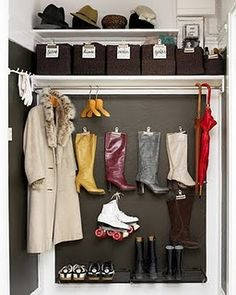 Magnetic board and large clip magnets! #closet, #organisation, #shoes