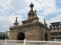 The Vajra Pagoda in Guandu Old Town south of Kunming, Yunnan, China, resembles a Tibetan-style tantra stupa. Kunming, Tantra, Tower Bridge, Old Town, China, Stone, Travel, Old City, Rock