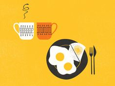 Breakfast Mugs by Tom Froese