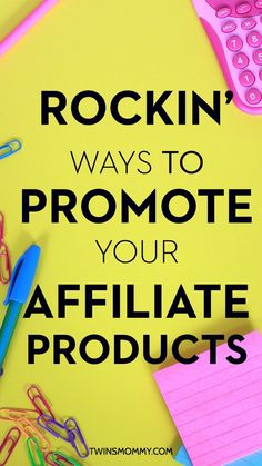 Ways to promote affiliate links