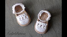Sandalias de crochet de bebe