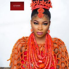 """3,781 Likes, 17 Comments - Africa's Top Wedding Website (@bellanaijaweddings) on Instagram: """"Regal Beauty inspiration for the Edo Bride! Photography: @atunbi Hair: @tobbiestouch Makeup:…"""""""