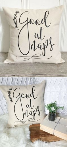 Yes I am!  Haha! Good At Naps Pillow Cover, Cotton Pillow Case, Farmhouse Pillow, Rustic Farmhouse Decor, Throw Pillow, Farmhouse Rustic Decor, Gender Neutral living room Decor, gift idea #ad