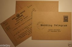 PERSONALISED TELEGRAM WEDDING INVITATIONS X 50 | eBay