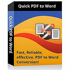 Quick PDF to Word Converter Cover