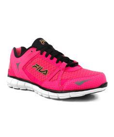 FILA Pink & Black Memory Synergy Sneaker by FILA #zulily #zulilyfinds