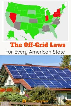 The Off-Grid Laws of Every State in America - - The laws about off-grid electric, water, and sewage in every state in America, including information on how local governments make off-grid living illegal. Off Grid Survival, Camping Survival, Survival Prepping, Emergency Preparedness, Survival Skills, Wilderness Survival, Survival Gear, Zombies Survival, Doomsday Prepping