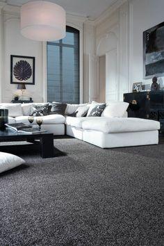 Teppich Wohnzimmer Grau Elegant Weißes Ecksofa Dark Grey Carpet Living Room Gray